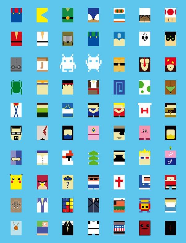video game characters minimalist avatars