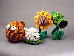 Plants Vs Zombies Crochet Dolls