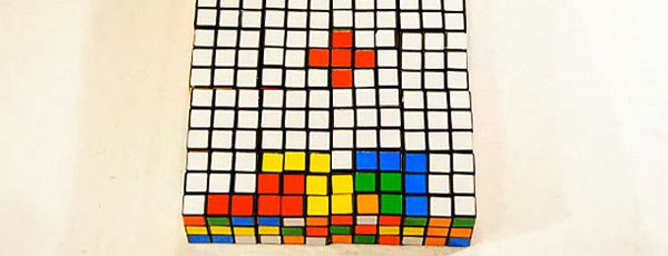 Rubik's Cube Tetris Animation