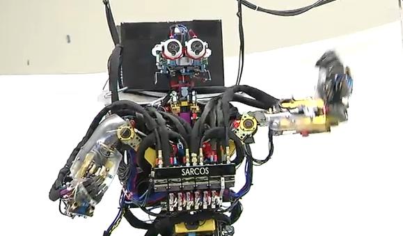 Sarcos Dancing and Balancing Robot