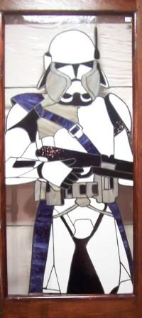 Star Wars Storm Trooper Stained Glass Panel