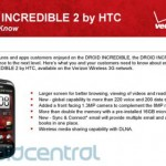 Verizon Droid Incredible 2 specs