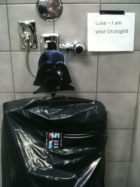 darth vader urinal