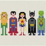 dc comics cross stitch