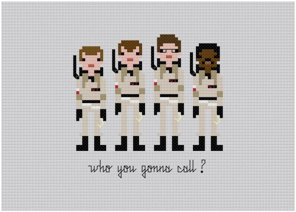 ghostbusters cross stitch