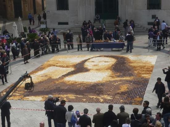 Mona Lisa Mosaic In The Making