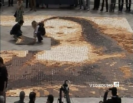 Mona Lisa Mosaic In The Making