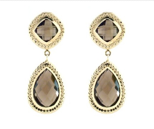 mothers day gift ideas Yellow Gold Pear Dangle Earrings