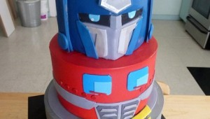 optimus prime cake design