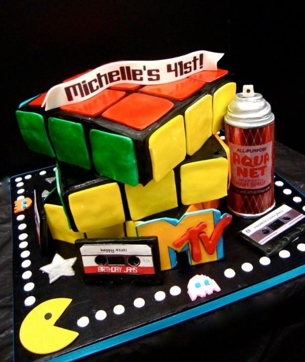 retro 80's cake
