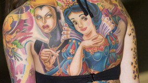 snow white and the seven dwarfs back tattoo