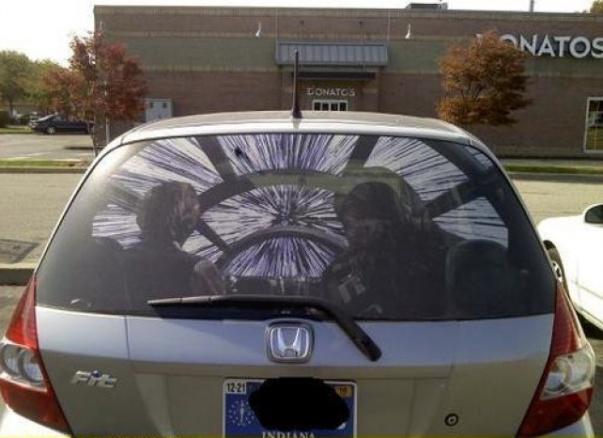 star wars rear window car sticker