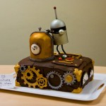 Steampunk Cake and Fruit Friend
