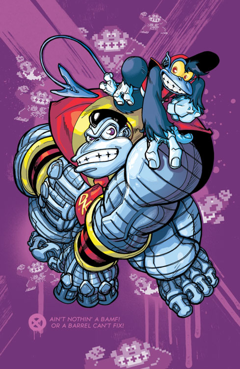 Donkey Kong Colossus and Diddy Nightcrawler
