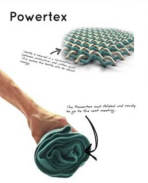Powertex Charging Fabric