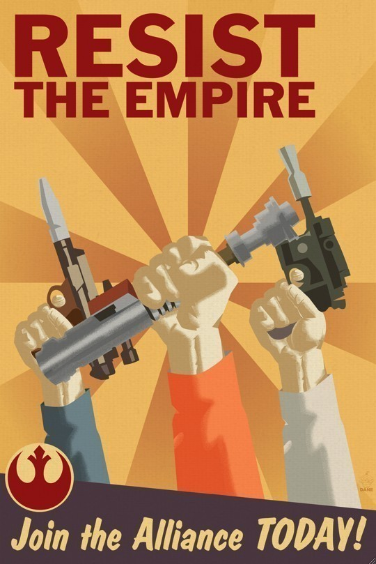 Star Wars Propaganda Poster Rebellion