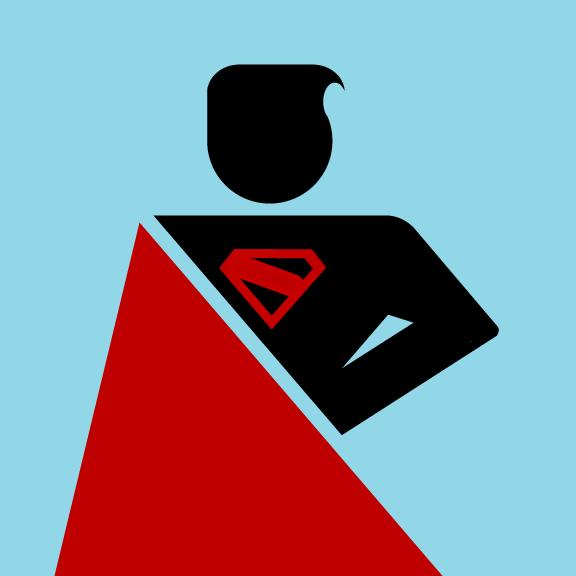 Superman Pictogram