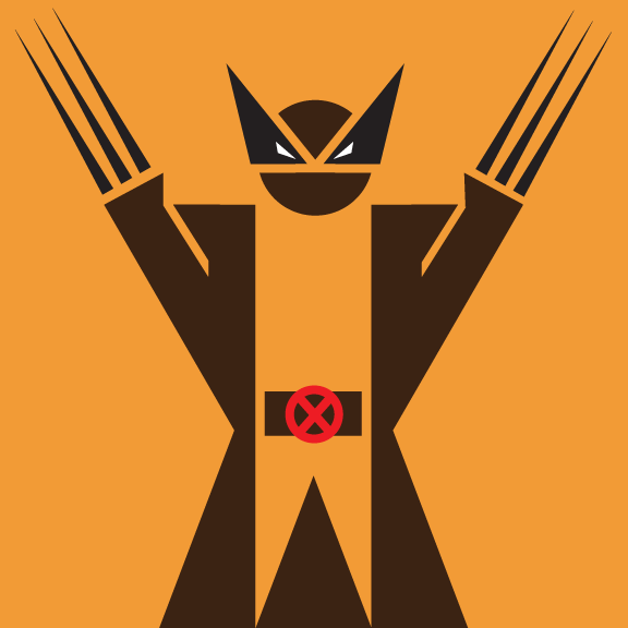 Wolverine Superhero Pictogram