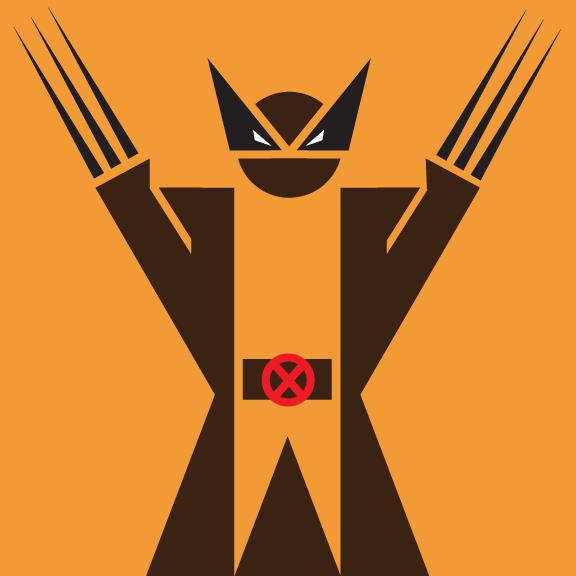 Wolverine Superhero Pictogram