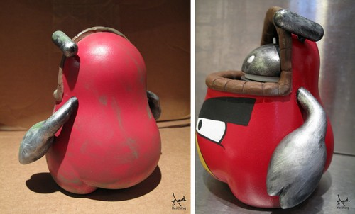 Android Angry Bird Doll From Different Angles