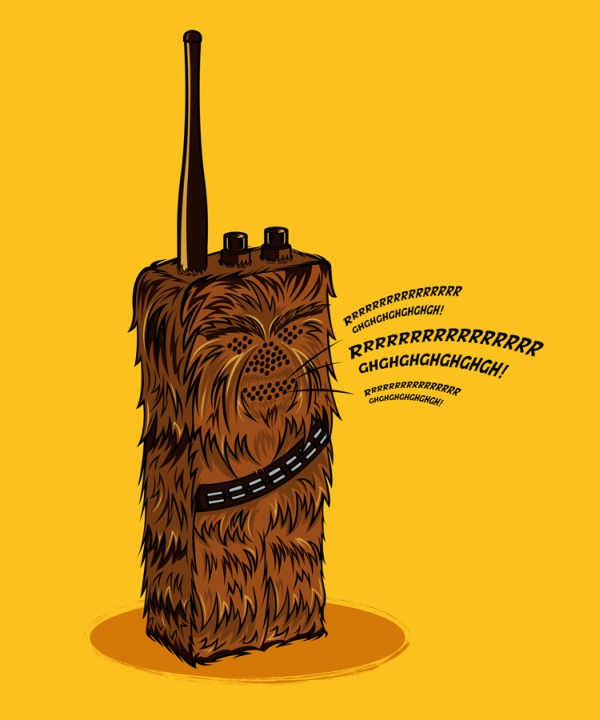chewbacca wookie talkie
