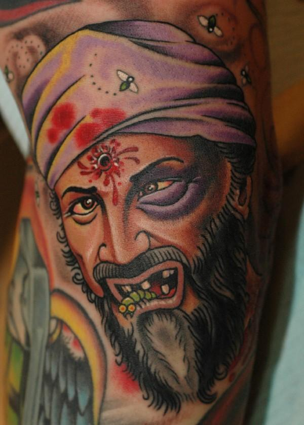 dead osama bin laden tattoo