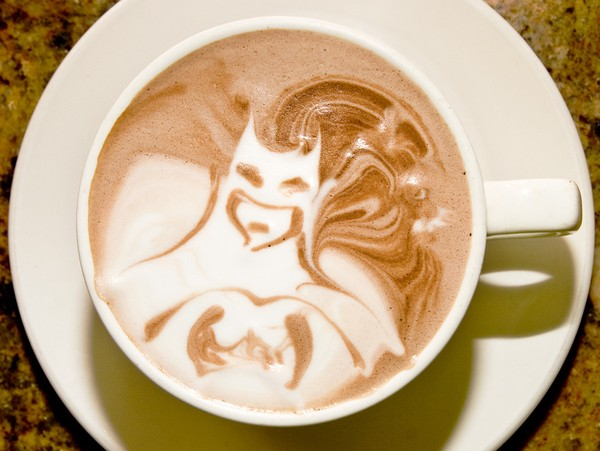 latte art batman