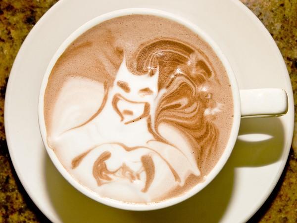 latte art batman