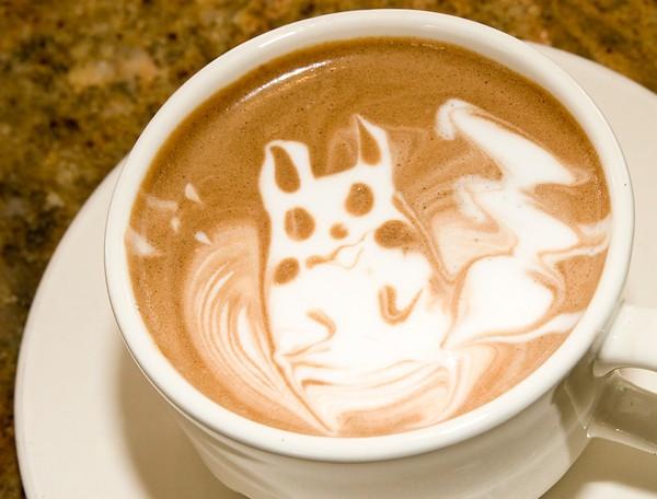 latte art darth vader