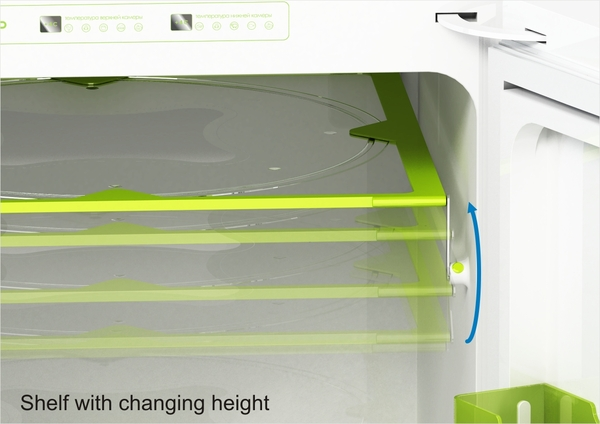 Nord Fridge Concept Adjustable Shelf