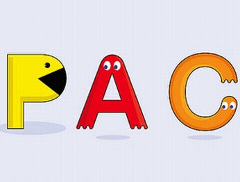 pacman characters letters