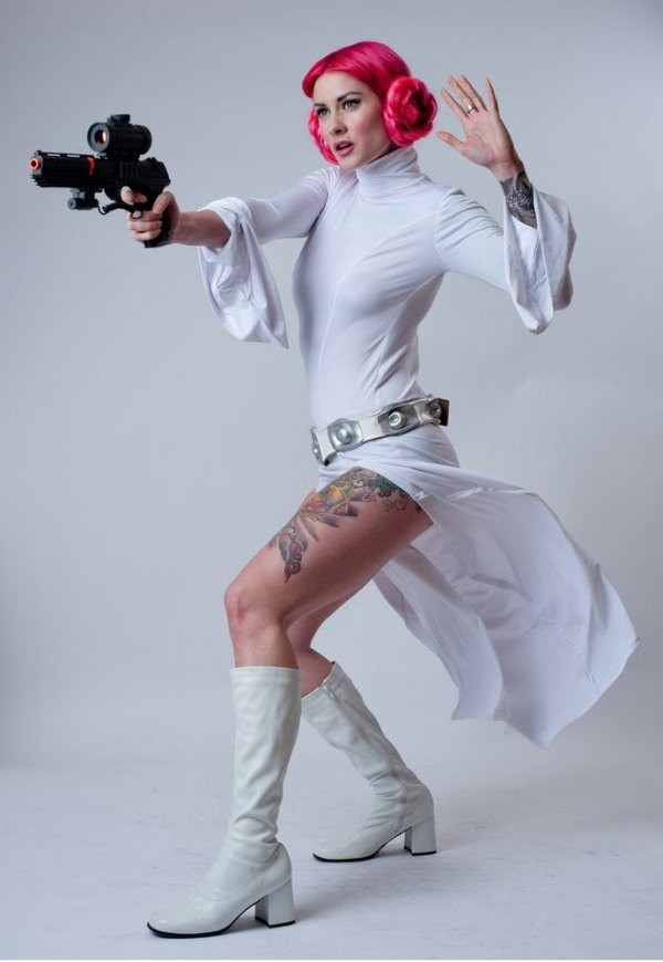 sexy princess leia cosplay