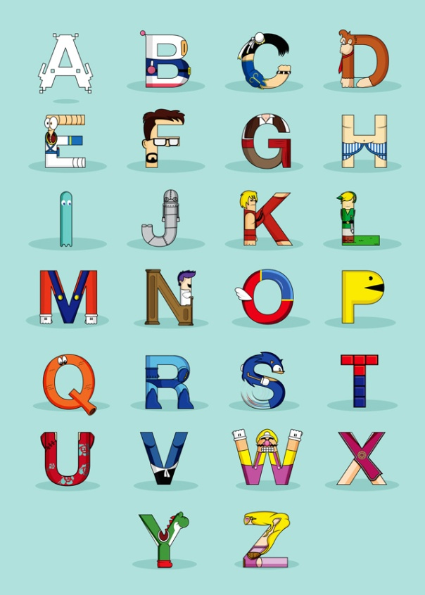 video game characters alphabet