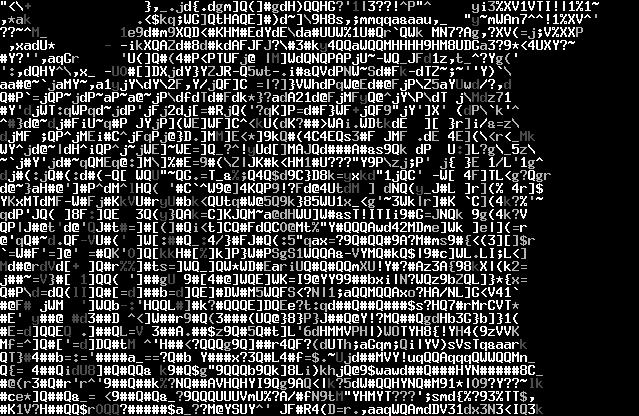 geeky ascii art