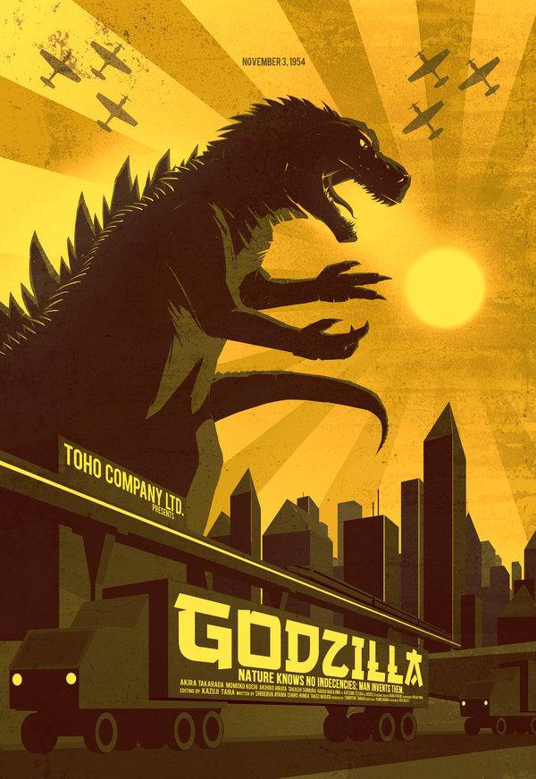 Godzilla Movie Poster Redesign