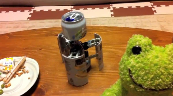 Walking Beer Can Robot