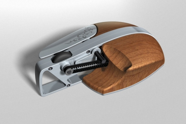 Wood and Metal PC Mouse 2