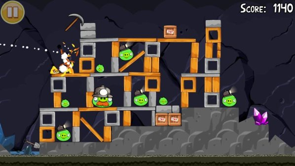 angry birds new levels mine and dine