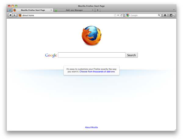 Firefox screenshot