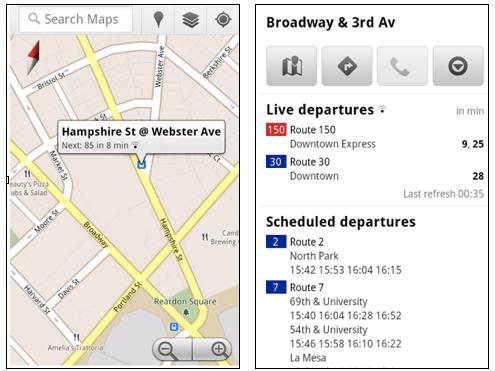 Google transit alerts