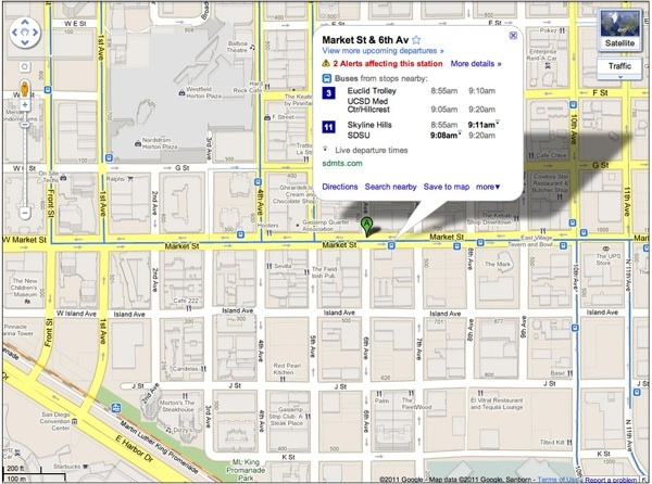 Google Transit alerts 3