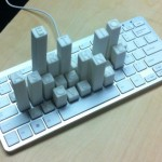 keyboard frequency sculpture 3