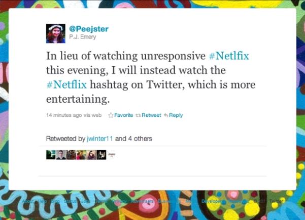netflix services twitter down screenshot