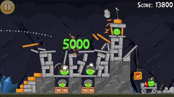 new levels for angry birds mine and dine