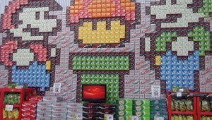 super mario bros soda can display