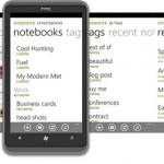 Evernote on Windows 7 Phone