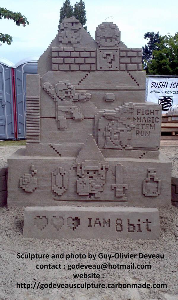 8 Bit Nintendo Sand Sculpture