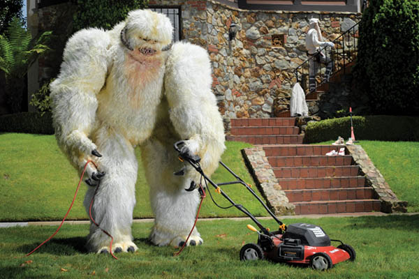 Adidas Wampa Mowing Lawn