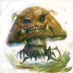 Creepy Mario Goomba Art