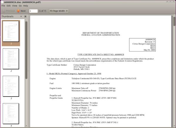Evince PDF Reader